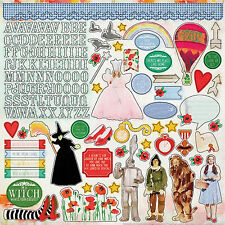 Paper House WIZARD OF OZ 12x12 Cardstock Sticker Sheet DOROTHY WITCH TINMAN LION