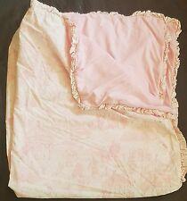 Circus Baby Blanket Amy Coe Pink Ruffle Toile White Reversible Baby Girl Ltd Ed
