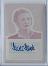 New Listing2017 Star Wars Journey Episode 8 Carrie Fisher Auto Printing Plate 1/1 Leia