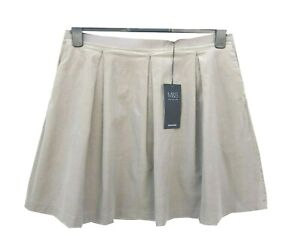 Marks & Spencer Beige Corduroy Mini Skirt Plus Size 20 with Stretch