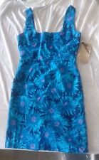 NWT BB Dakota Size 10 Dress Flowers Floral Blue Ships in 24 hours!