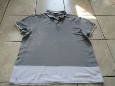 Calvin Klein Gray White Body Fit Polo Shirt Size XL X-Large