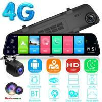 "12"" 1080p HD 4G Android 8.1 Car DVR GPS Navigation Rearview Mirror Dash Camera"