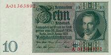 Germany / Deutschland P-180c / Ro.173c 10 reichsmark 1929(1945) AU