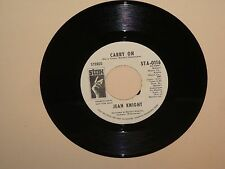 Jean Knight Carry on Stereo & MONO DJ 45 rpm  Stax STA-0116 NM