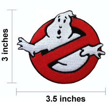 "Ghostbusters Ghost Busters Logo 3.5"" Embroidered Iron On Patch."