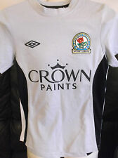 Blackburn Rovers FC Away Camicia grigia. Taglia Media Ragazzi.