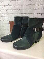 Miz Mooz Leather Boots with Crossover Details Elwood Women Size EU 40 US 9-9.5