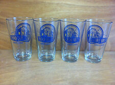 Third Shift Amber Lager 16 oz Pint Beer Glass - New - Set of 4 Glasses
