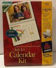"Avery Ink Jet Calendar Kit Glossy Photo Quality 15 sheets 8.5"" x 11"" 3278"