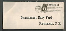 1886 Washington DC USA Navy Department Official Cover to Navy Yard Portsmouth NH