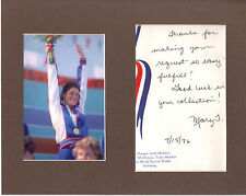 Mary T Meagher Signed Matted With Photo COA 1/17