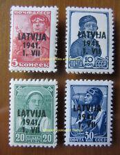 EBS 1941 German occupation Latvia Latvija Lettland MIchel 1//5 MNH