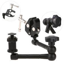 "11"" Articulating Magic Arm + Super Clamp Crab Plier Clip for DSLR Camera Black"