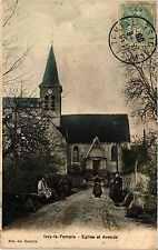 CPA IVRY-le-TEMPLE Eglise et Avenue (375667)