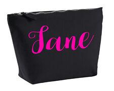Jane personalizado de Maquillaje Bolsa De Accesorios En Color Negro Rosa Neón maquillaje