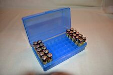 AA Battery Plastic Storage Box Bin Container HOLDS 50 BATTERIES !  BLUE COLOR