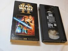 Star Wars Episode II: Attack of the Clones VHS tape Digitally RIP Carrie Fisher