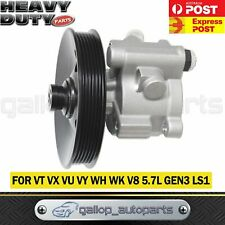 H'DUTY POWER STEERING PUMP W/ PULLEY VT VX VU VY WH WK V8 5.7 GEN3 LS1 COMMODORE