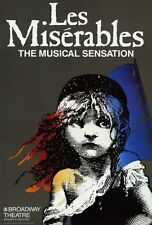 """LES MISERABLES Poster [Licensed-NEW-USA] 27x40"""" Theater Size (Broadway)"""