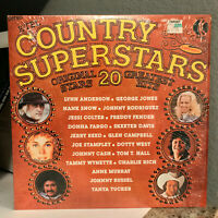"1976 K-TEL Compilation - COUNTRY SUPERSTARS - 12"" Vinyl Record LP - EX"