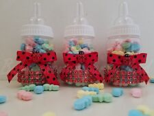 Baby Shower 12 Ladybug Favor Fillable Bottles Prizes Games Boy Blue Decorations