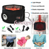 Far Infrared Heating Vibration Massage Waist Back Pain Relieve Therapy Belt Gift