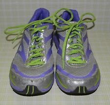 RYKA ILLUSION ATHLETIC SHOES SNEAKERS BLUE SILVER GRAY & NEON GREEN SIZE 5