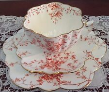 Antique Wileman Foley (Pre Shelley) Daisy Trio 'Red Floral' 6189