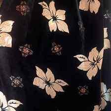 Black Beige Pattern Flower Velvet devor' printes 80% rayon 15% silk 45 Inch wide