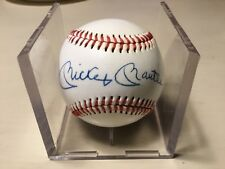 MICKEY MANTLE AUTOGRAPHED BASEBALL W / COA - clean ball, right on the sweetspot
