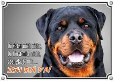 Warnschild - ROTTWEILER - massives Metallschild - Hundeschild