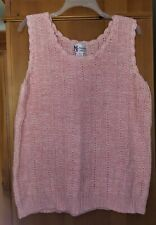 Womens Maggie Sweet Sweater Plus Size 1x Sleeveless Pink