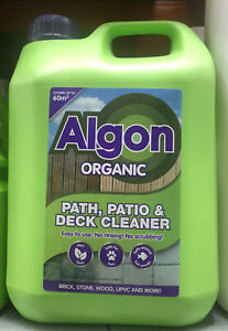 Algon Organic Path and Patio Cleaner 2.5 Litre Concentrate Algae Moss Clean SALE