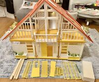VTG 1978 YELLOW BARBIE DOLL  A Frame DREAM HOUSE 88% Complete