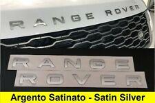 Logo Scritta RANGE ROVER Argento Satinato evoque sport vogue velar land stemma