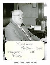 ELBERT THOMAS Autograph Mormon LDS Church Senator Utah Amici Fidissimi Society 1