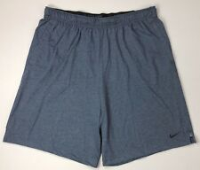 Nike Big Tall Thunder Blue Heather Dry Dri-fit Athletic Shorts 3xlt 3xt Men