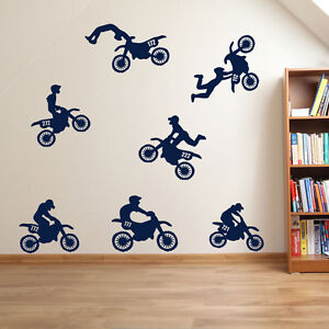 Motorräder Motorrad Sport Helm Super Fahrrad Scrambler Wandaufkleber Kinder A61