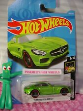 '15 MERCEDES-AMG GT #264✰green✰NIGHTBURNERZ✰2018 i Hot Wheels WW case L/M