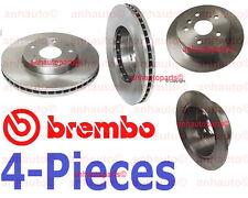 4-Pieces Genuine Brembo Rotors (2-Front & 2-Rear) Camry ES300 Solara 6-Cylinder