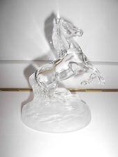 Dekoratives Glas Pferd für Bord Vitrine Schliff durchsichtig TOP !