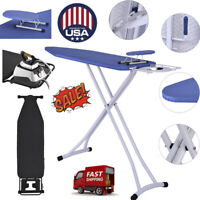 Ironing Board 4 Leg Foldable Adjustable Board With Cover+packaging shelf US Sto
