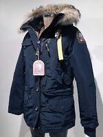 PARAJUMPERS DORIS WOMEN'S DOWN JACKET COAT, 100% GENUINE, BLUE-BLACK, L