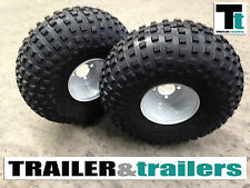 NEW ATV Trailer Wheels + NEW Tyres 280/65-8 (22x11.00-8) TWIN Wheel/Tyre Package