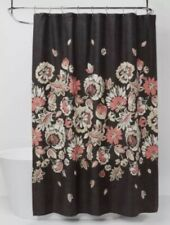 Threshold Floral Shower Curtain Brown
