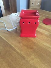Electric Scentsy Warmer Full Size Red Flares Great Condition