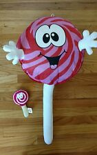 "GIANT LOLLIPOP PLUSH 32"" Doll Toy Goffa Peek a boo Red Cherry Lollypop Candy Big"