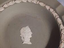 """Wedgewood, Jasperware, Green, Roman Head in Center, Ashtray 7"""" diameter"""