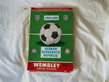 WEMBLEY STADIUM     ENGLAND v GERMAN DEMOCRATIC REPULIC 25/11/1970